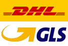 Versand mit DHL bis 30 kg, mit GLS über 30kg