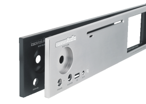 Cocktailaudio X40 Front Aluminiumplatte